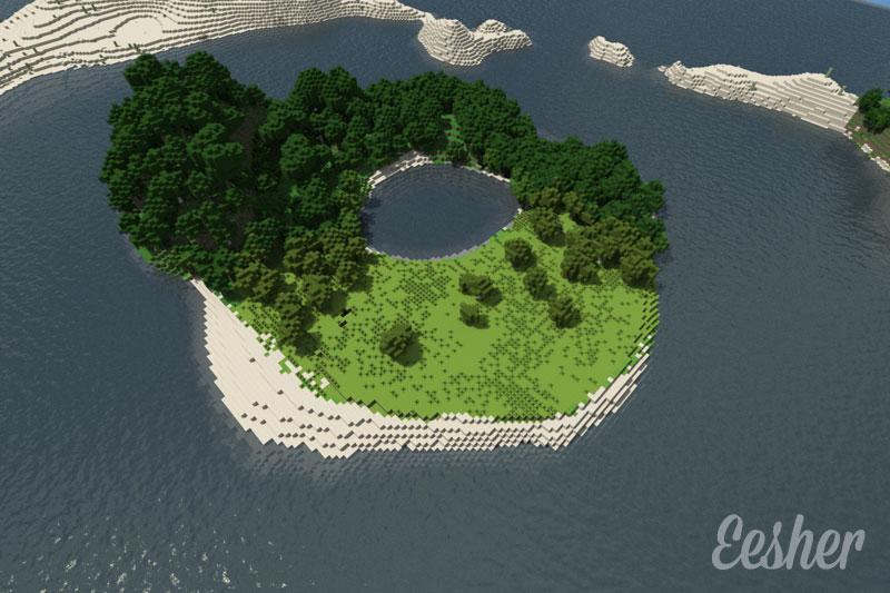 Как сделать остров в майнкрафте