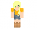 Applejack Girl Skin for Minecraft