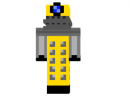 Yellow Dalek Skin Download