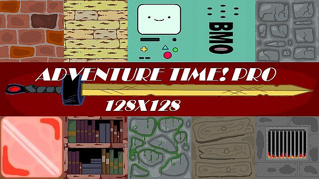 http://planetaminecraft.com/wp-content/uploads/2013/10/a6eac__Adventure-time-pro-pack.jpg