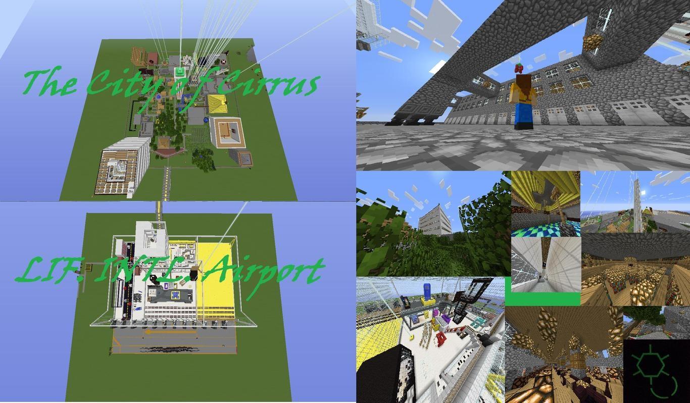 Карты городов для Minecraft