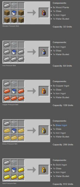 Steam Engines Mod Crafting Recipes 5